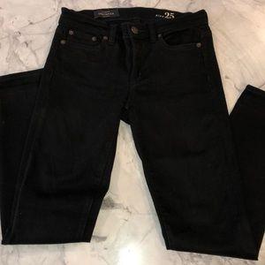 J.Crew black toothpick jeans 25